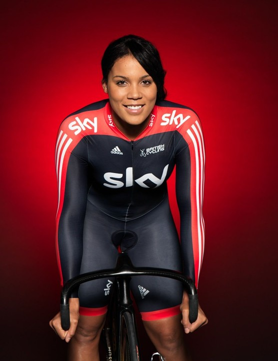 Shanaze Reade in the new Sky kit