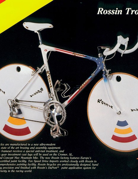 Rossin claim to have pioneered much of the equipment found on modern time trial and track bikes