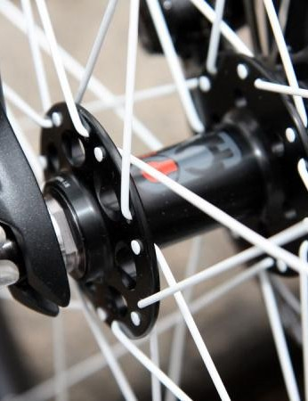 A proper thru-axle would probably yield less twist on a test bench but the oversized end caps on Trek's FCC quick-release system seem to at least be an improvement on the status quo