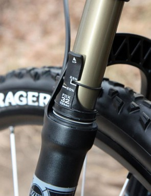 A handy sag meter is included with the bike and makes for easy setup