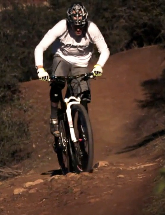 Giant factory team rider Carl Decker has been testing the new 29in-wheeled carbon hardtail for months now and is expected to use it as his primary race rig this season