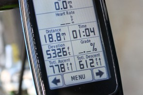 Main ride data can set in a vast array of configurations, with up to 10 pieces of information spread over five lines
