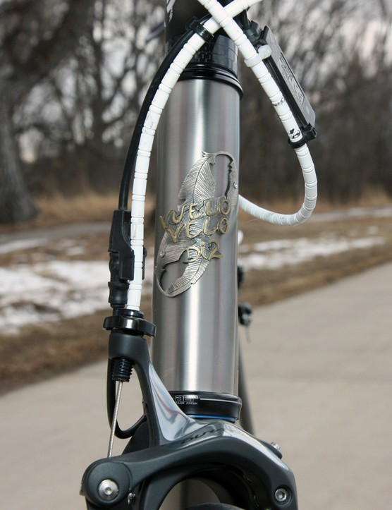 Vuelo Velo uses unique head tube badges for each model