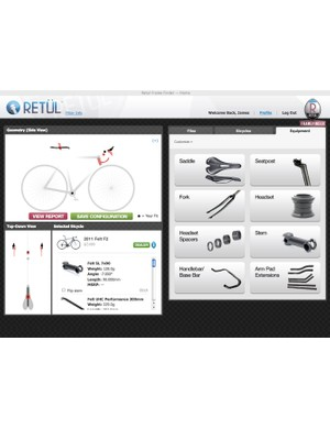 Retül's new Frame Finder software can virtually customize the fit of a new bike to perfectly match a customer's existing setup