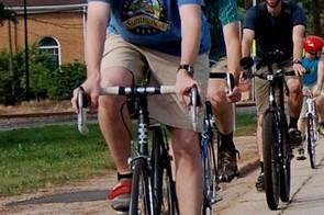 Bicycle Design creator, James Thomas, practicing the craft