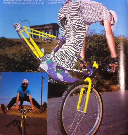 Jez Avery sporting the height of 1990s mountain biking fashion