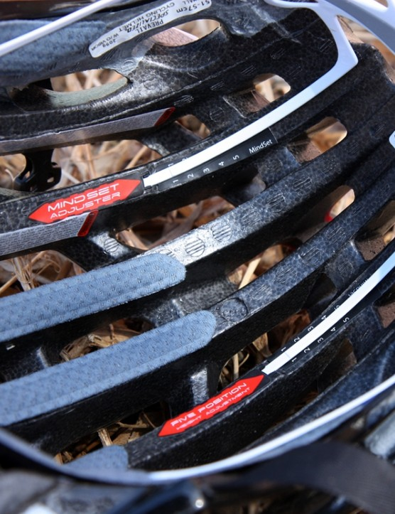 Deep channels run front-to-rear throughout the new Specialized S-Works Prevail helmet