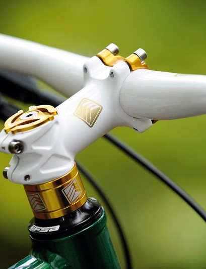 Gold detailing  adds to the bike's  overall good looks
