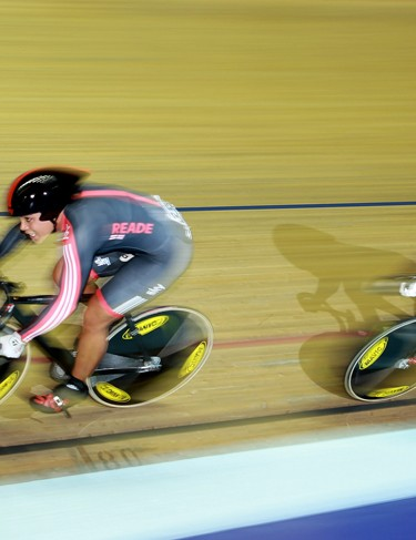 Shanaze Reade and Victoria Pendleton in action