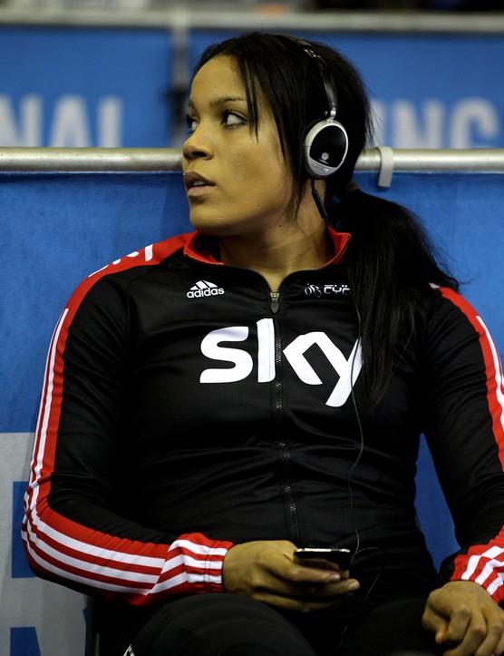 Shanaze Reade prepares for her team sprint