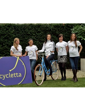 Victoria Pendleton with fellow Cycletta ambassadors, L-R, Lia Hervey, Layla Anna Lee, Orla Chennaoui and Annie Emmerson