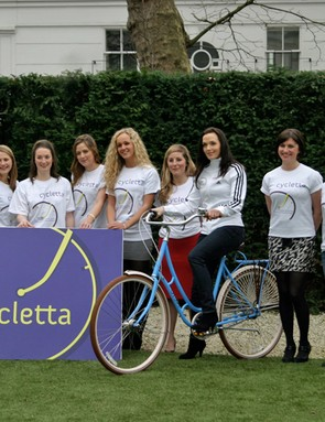 The girls were out in force to support the launch of Cycletta in London