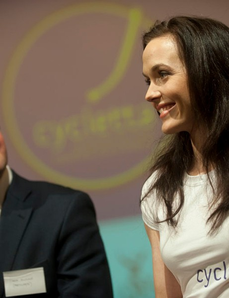 Victoria Pendleton with Participate CEO Nick Rusling