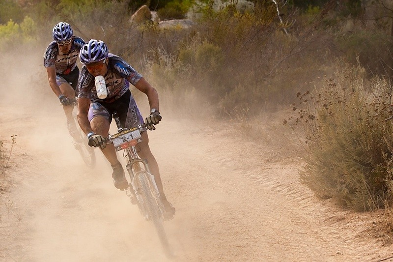 Brentjens and Pietersma at the 2010 Absa Cape Epic