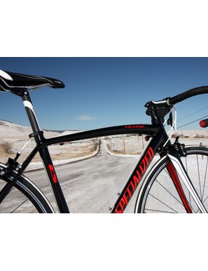 The bowed top tube emulates the look of Specialized's more expensive frames