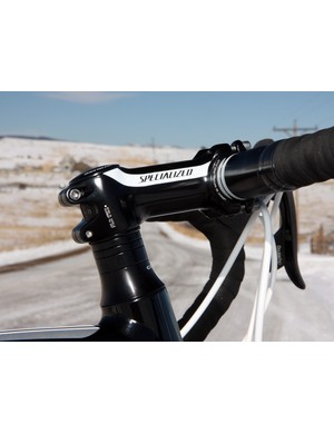 Specialized's handy adjustable-angle stem design makes for more flexible positioning