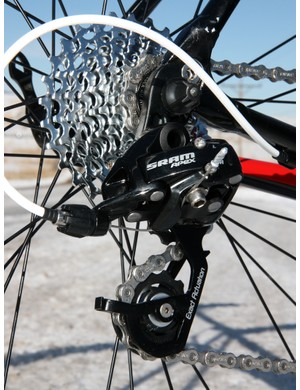 The Apex rear derailleur is functionally a dead ringer for SRAM's more expensive groups