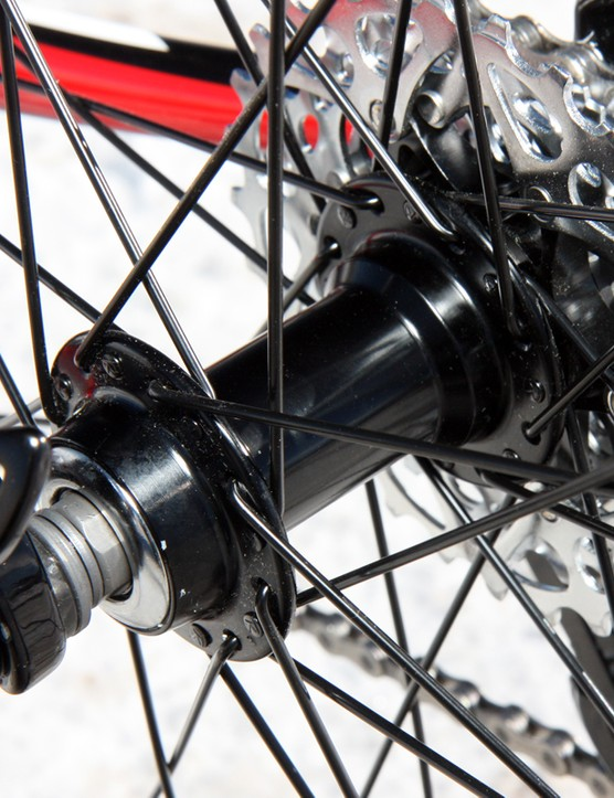 The alloy hubs use traditional cup and cone bearings so while they have to be adjusted properly during assembly, they can also be easily - and cheaply - overhauled when needed