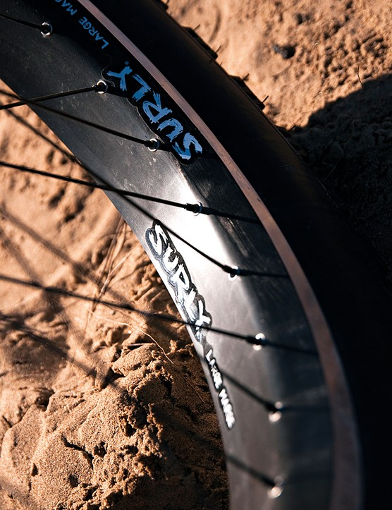 At 65mm wide, these double-walled bad boys feature machined sidewalls so you can put in rim brakes if you want to