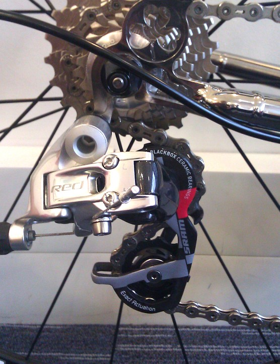 SRAM Red adorns the rear