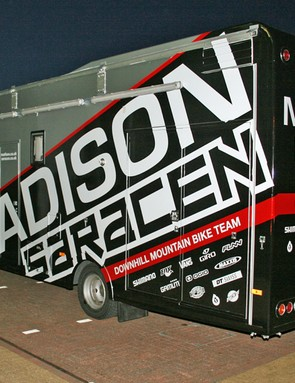 The Madison Saracen team truck