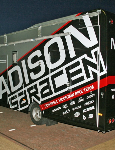 The Madison Saracen team truck