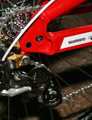Madison Saracen team issue Myst downhill bike