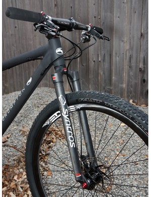 Crumpton fit its new 29er with a Syncros carbon fork to keep the weight down but the crown-to-axle length is roughly the same as a suspended fork so swapping one in won't adversely affect the handling.