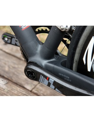 Crumpton prefers monobox-style chain stay yokes for their generous surface area, which he says makes for higher-strength joints.