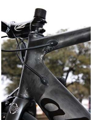 Cables are internally routed on Alchemy's new aero frames.