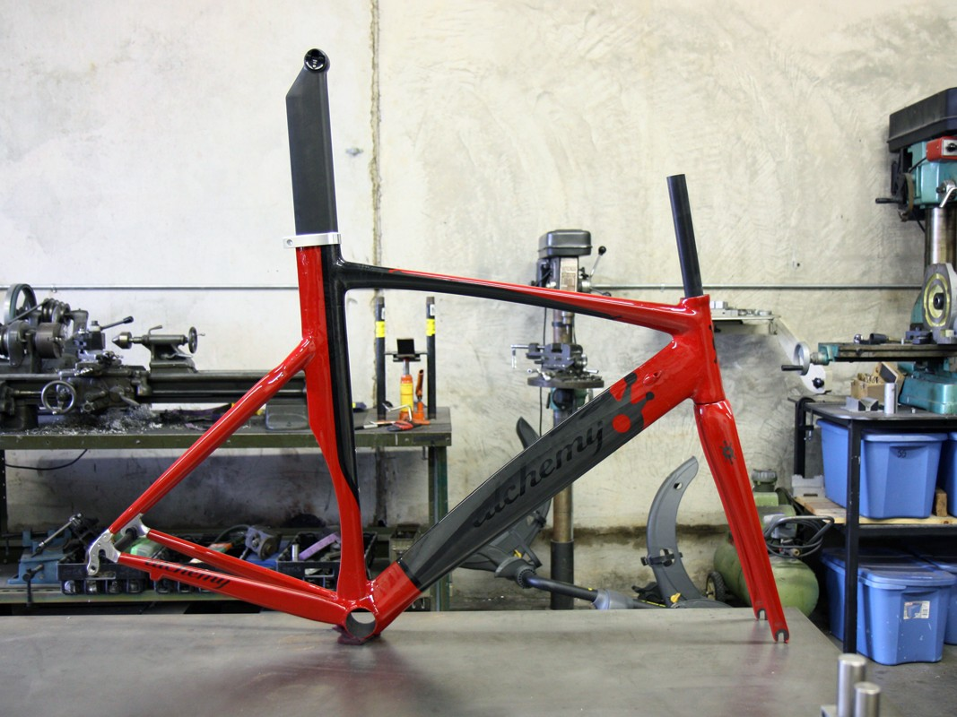 Alchemy's full aero treatment includes the seat tube, too.