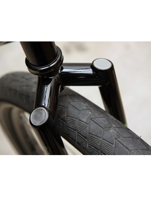 The segmented crown on this True Fabrication fork is capped with uber-polished Texas quarters.