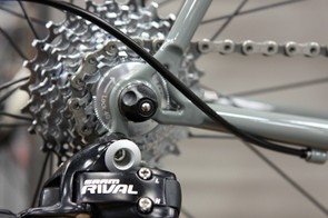 The new Cielo Sportif Racer uses tighter geometry than the standard Sportif and vertical dropouts