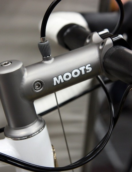 This Moots stem beautifully displays what's possible with Chris King's new optional upper bearing caps