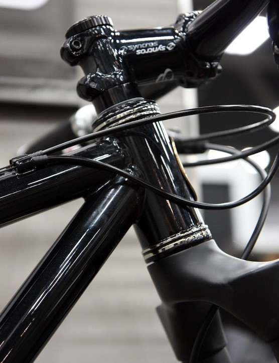 Stainless steel reinforcing rings are featured on this Cielo steel hardtail