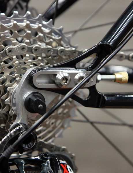 Sliding dropouts on Cielo's steel hardtail allow for geared or singlespeed setups