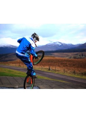 Jimmy Savile seems to have picked up some riding tips from Danny MacAskill for a new video promoting Fort William as Scotland's outdoor capital