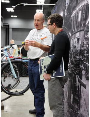 Two major players in the handbuilt bicycle world: Engin Cycles builder Drew Guldalian and Paragon Machine Works owner - and SOPWAMTOS co-founder - Mark Norstad.