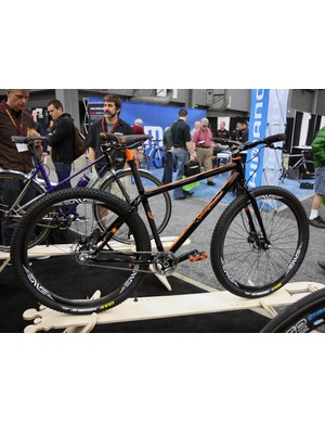 Independent Fabrications showed off this stunning Factory Lightweight mountain bike hardtail.