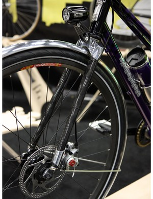 Wound-Up forks were a popular choice at this year's NAHBS thanks to the availability of disc tabs on their road forks.