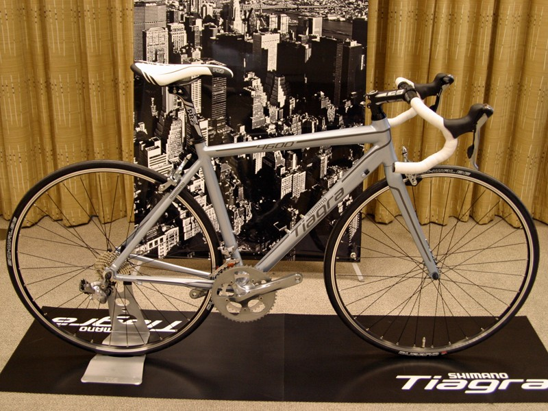 Shimano were displaying this bike kitted out with their new entry-level Tiagra road groupset at their 2011 New Product Presentation in Birmingham, England