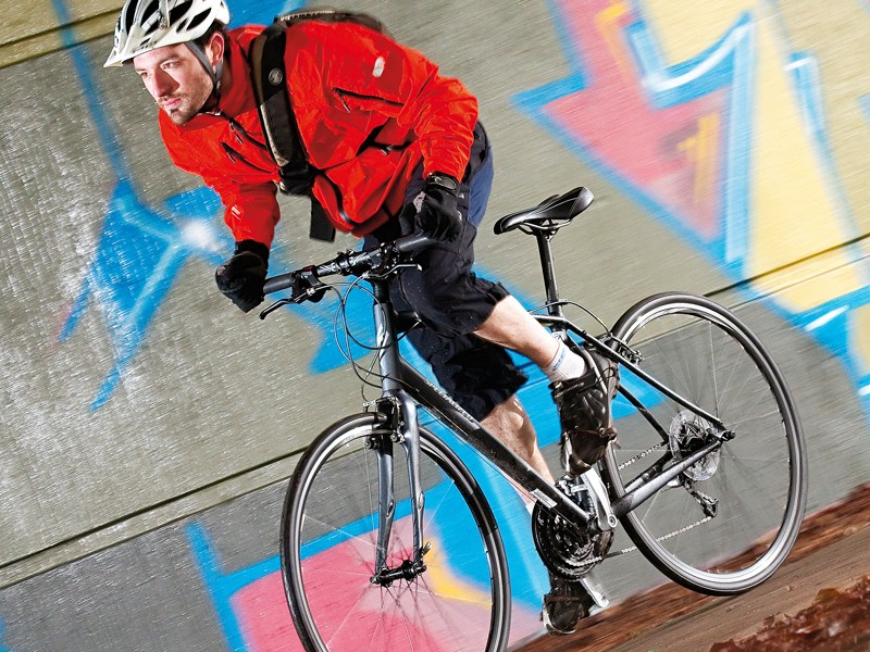The default riding position is upright, and a more generous rear triangle ensures comfort