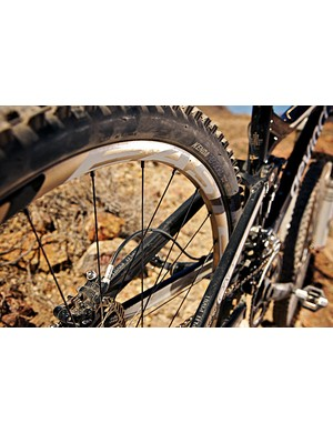 The stiff rear end lends great riding confidence