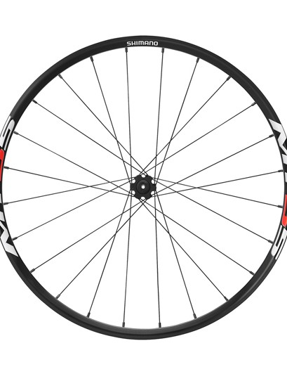 Shimano MT55 front wheel with quick-release hub
