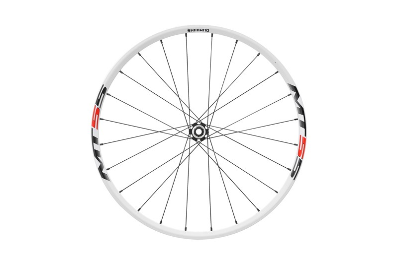 Shimano MT55 front wheel with quick-release hub (white)