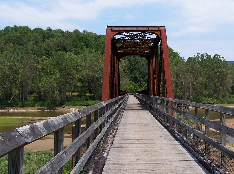 A converted railroad bridge on the Fries, VA rail trail