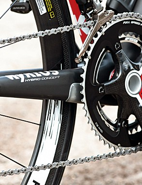 Shimano Di2, FSA K-Force Light chainset