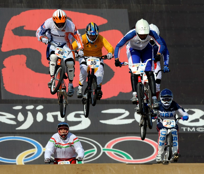 Shanaze Reade in action at the Beijing Olympics
