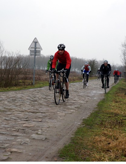 Every rider had their own method of negotiating the cobblestones