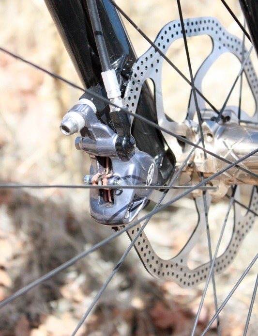 The Elixir 9 caliper features intricate forging for weight savings